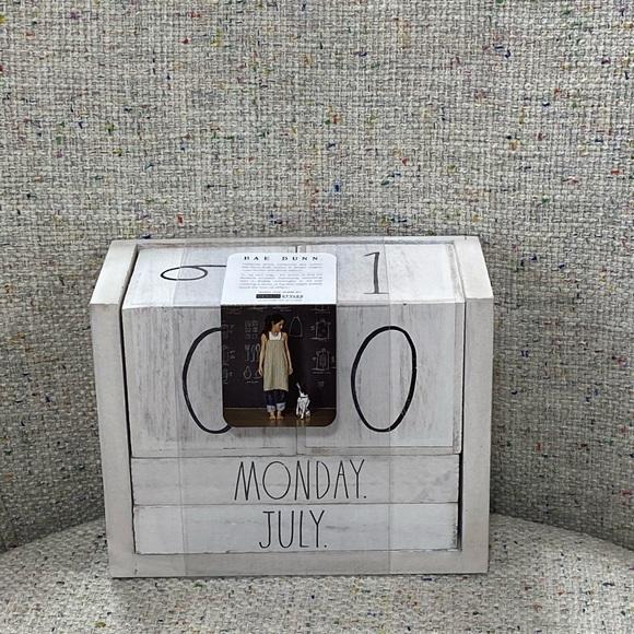 rae dunn wooden block calendar